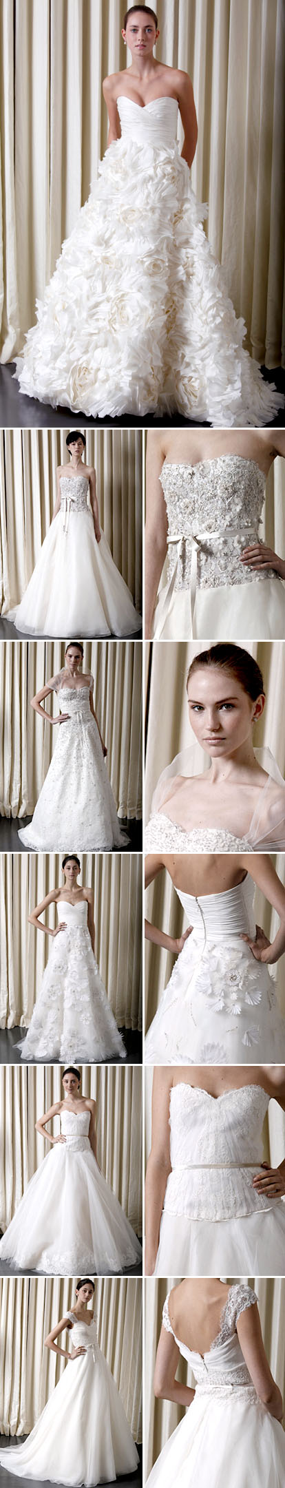 Spring 2010 bridal collection from Monique Lhuillier
