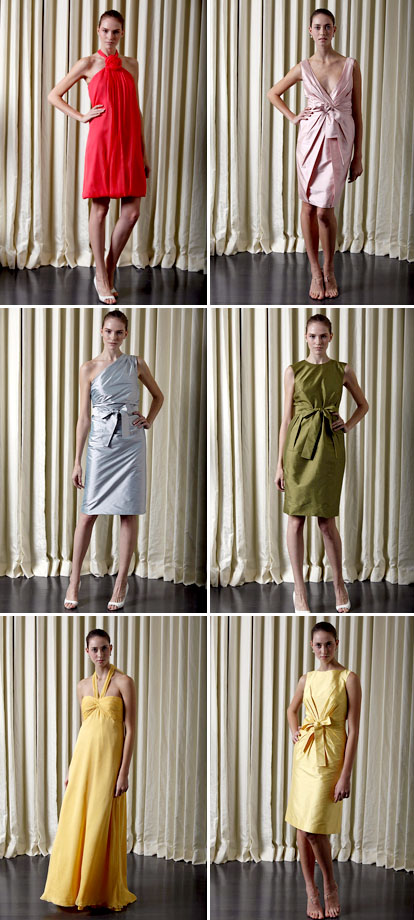 Spring 2010 bridesmaid's dress collection from Monique Lhuillier
