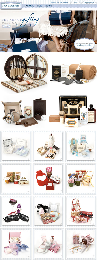 wedding gifts and favors from Navy and Lavender online shop