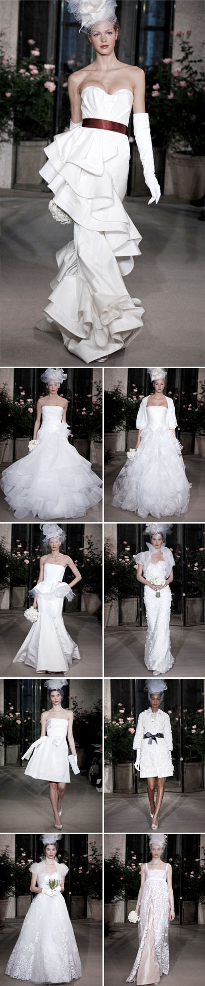 Oscar de la Renta spring 2010 bridal collection, runway highlights