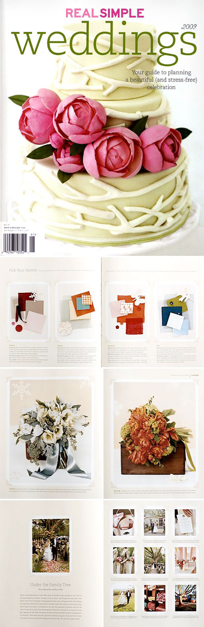 Real Simple Wedding magazine 2009, wedding cakes, wedding dresses, real weddings and more