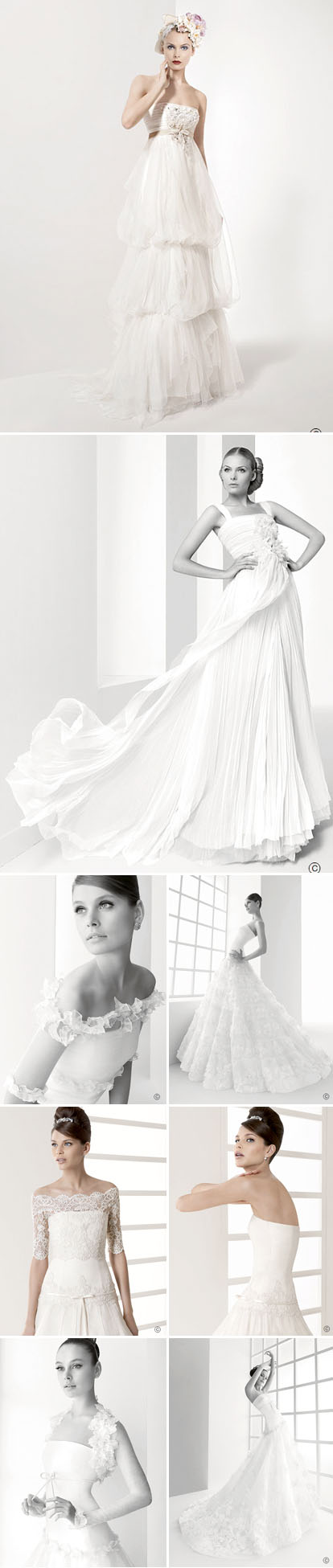 Wedding Gowns, Veils and Hair Accessories by Rosa Clara | Junebug ...