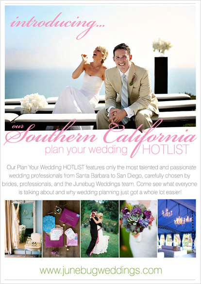 Southern California wedding planning with Junebug!