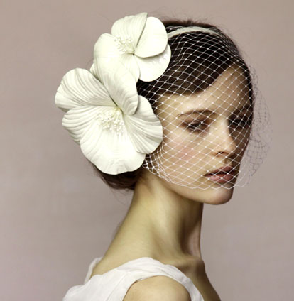Jennifer Behr bridal hair accessories, veils, headbands, jewels, feathers and ribbons