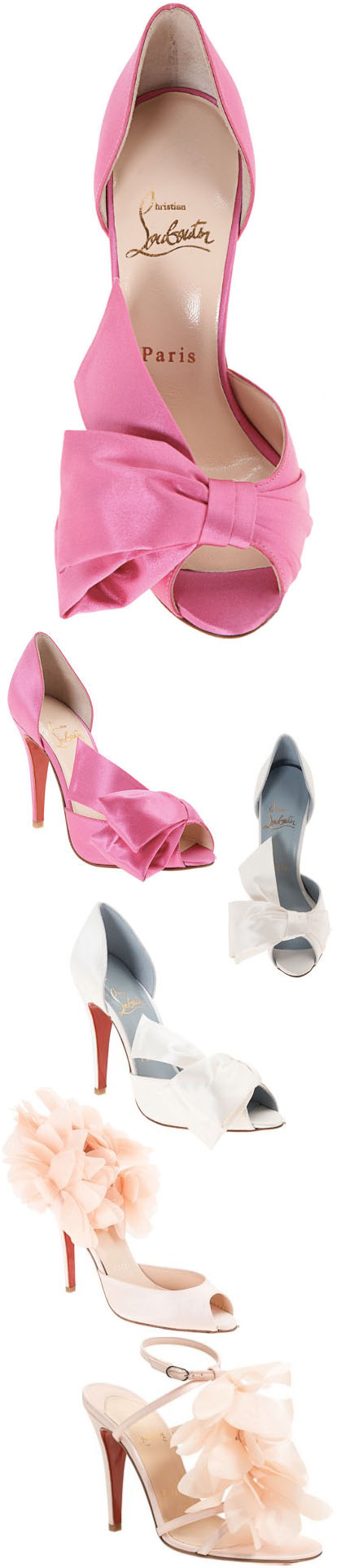 Christian Louboutin spring wedding shoes from Barneys.com