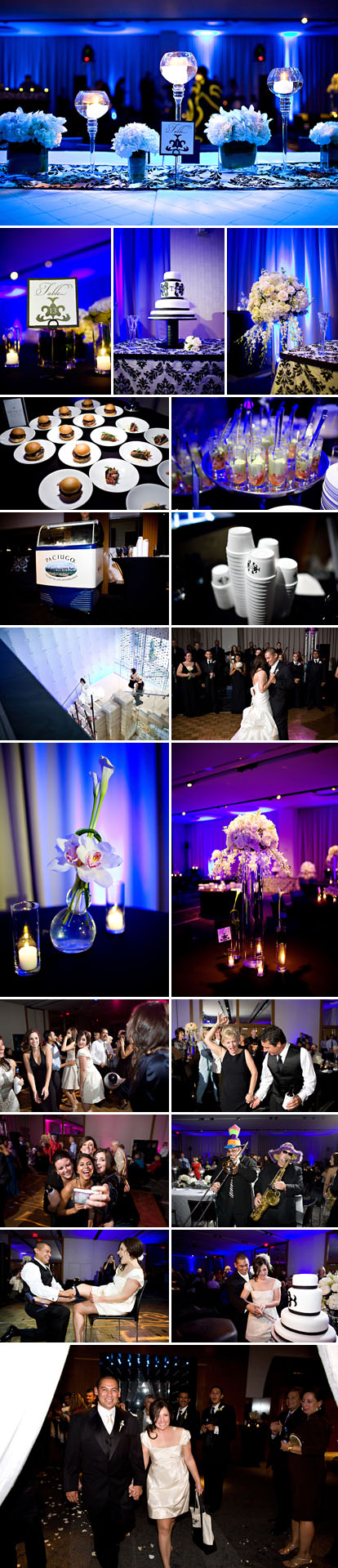 Perez Photogrpahy, W Hotel Dallas, Texas wedding, black and white wedding color palette