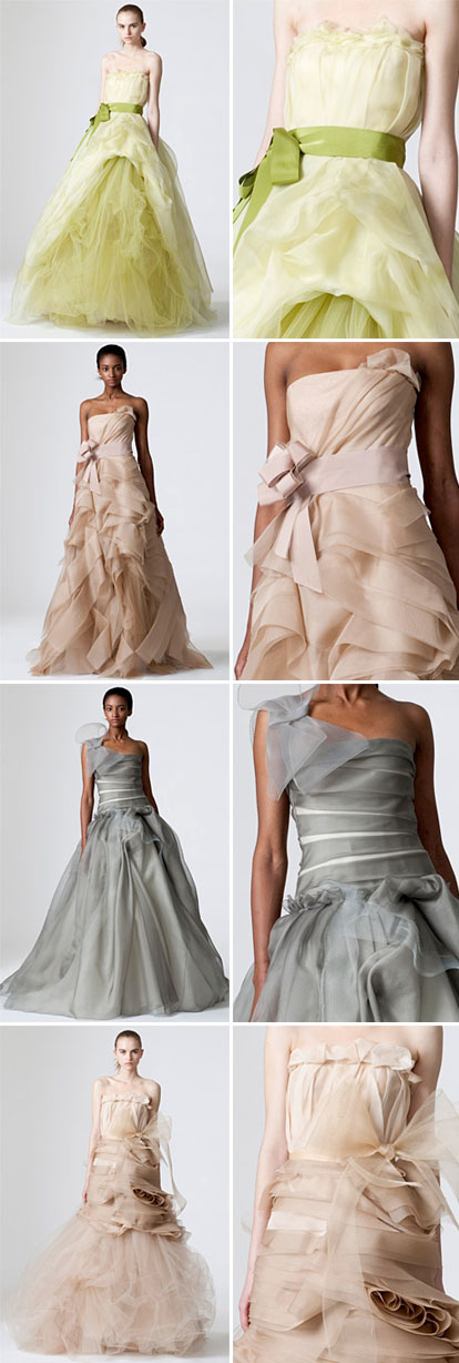 Spring 2010 colorful bridal collection from Vera Wang