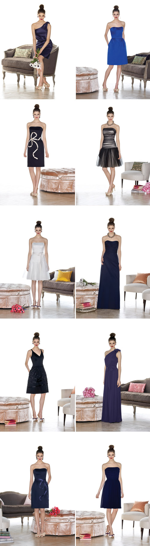 colorful cynthia rowley bridesmaids dresses from the dessy group