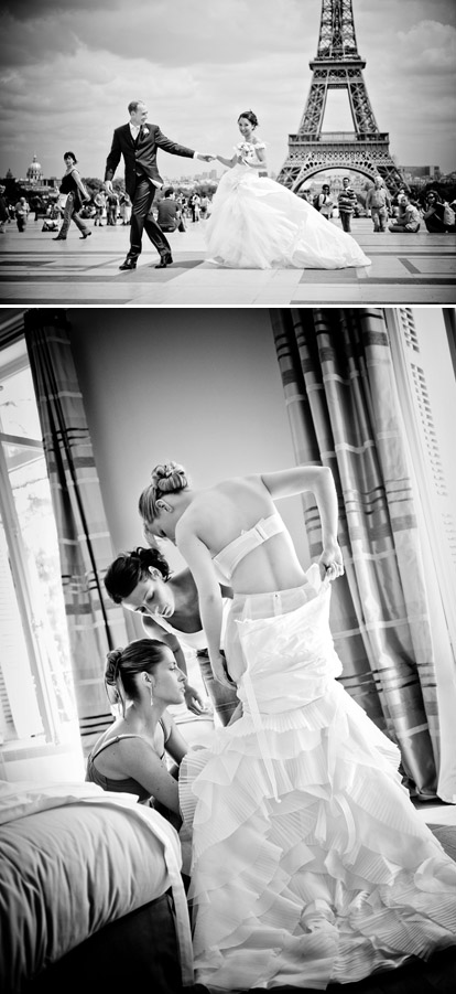 black and white wedding photos by Ivan Franchet of Ivan Franchet Wedding Art Photography, France