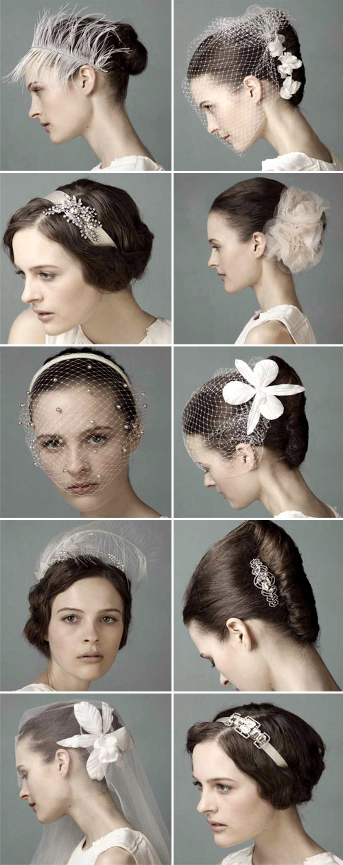 bridal hair acccessories, veils and headbands from Jennifer Behr spring 2010