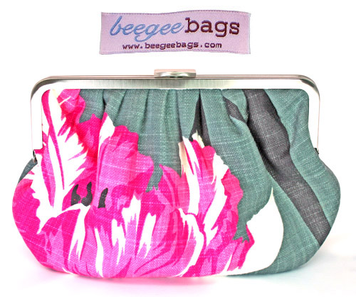 stylish floral print bridal clutches from BeeGee Bags