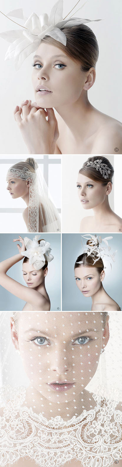 bridal veils and headpieces from Rosa Clara
