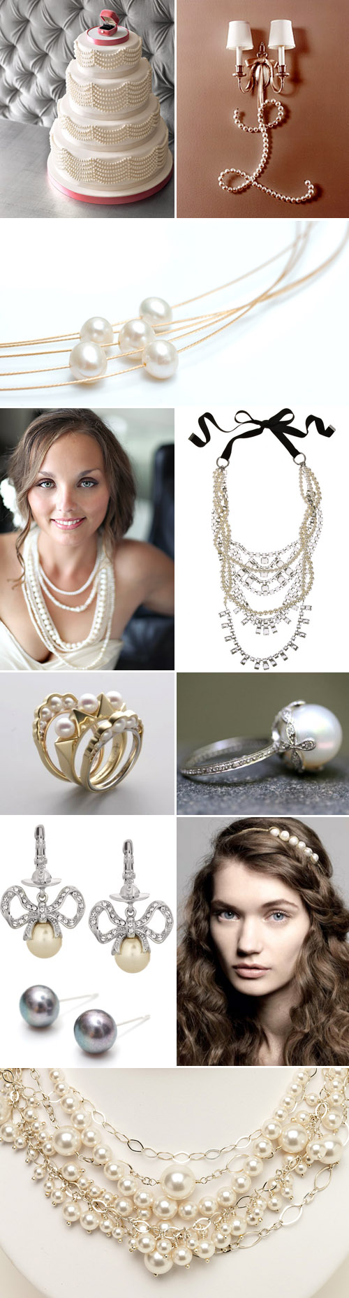 bridal pearl jewelry and accessory wedding inspiration