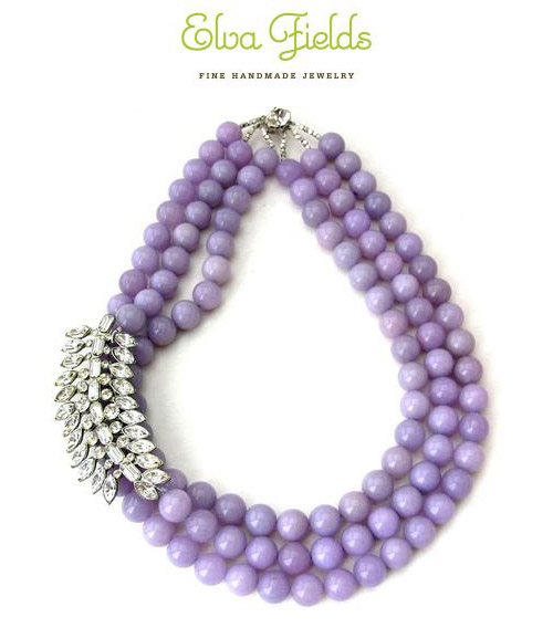bright and bold purple necklace from Elva Fields