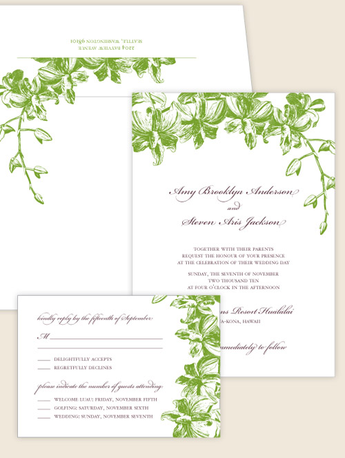 ready to order wedding invitations from brown sugar design