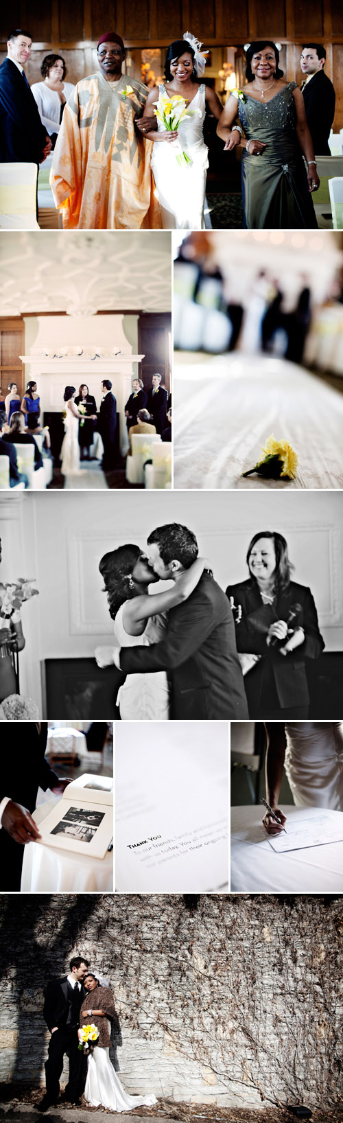 St Paul, Minnesota spring real wedding ceremony, yellow and blue color palette, images by Eliesa Johnson of Photogen