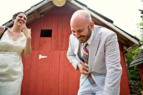 colorful outdoor farm wedding photographed by Gabriel Boone