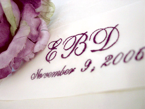 custom printed ribbon wedding dress label from ljo embroidery on etsy.com