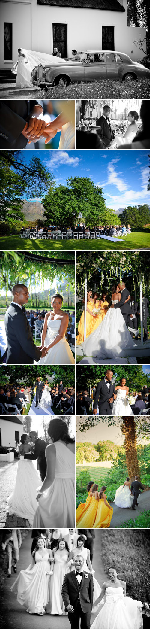 real outdoor wedding ceremony in south africa, images by jean pierre uys photography