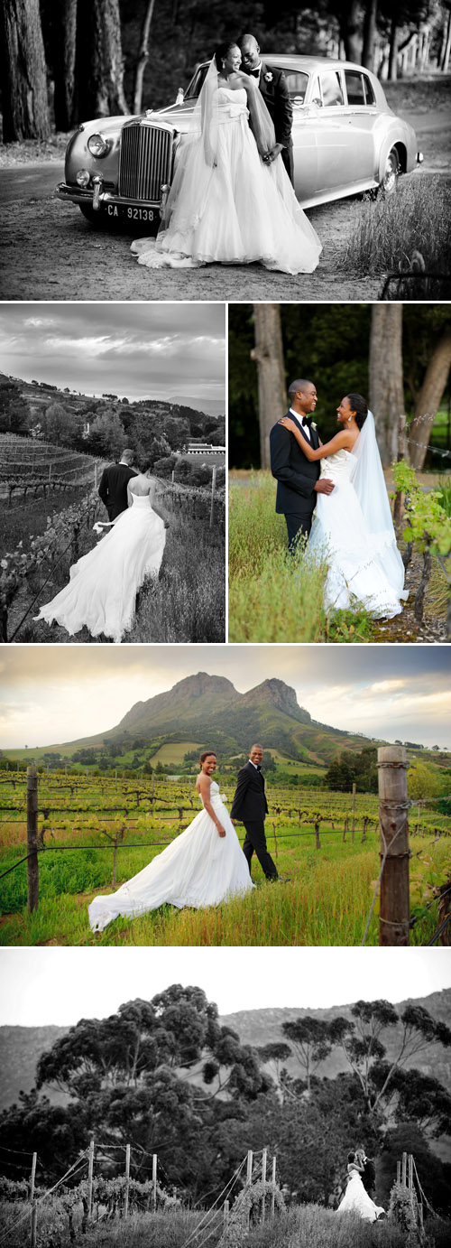 real wedding in south africa, vineyard couple's portraits, images by jean pierre uys photography