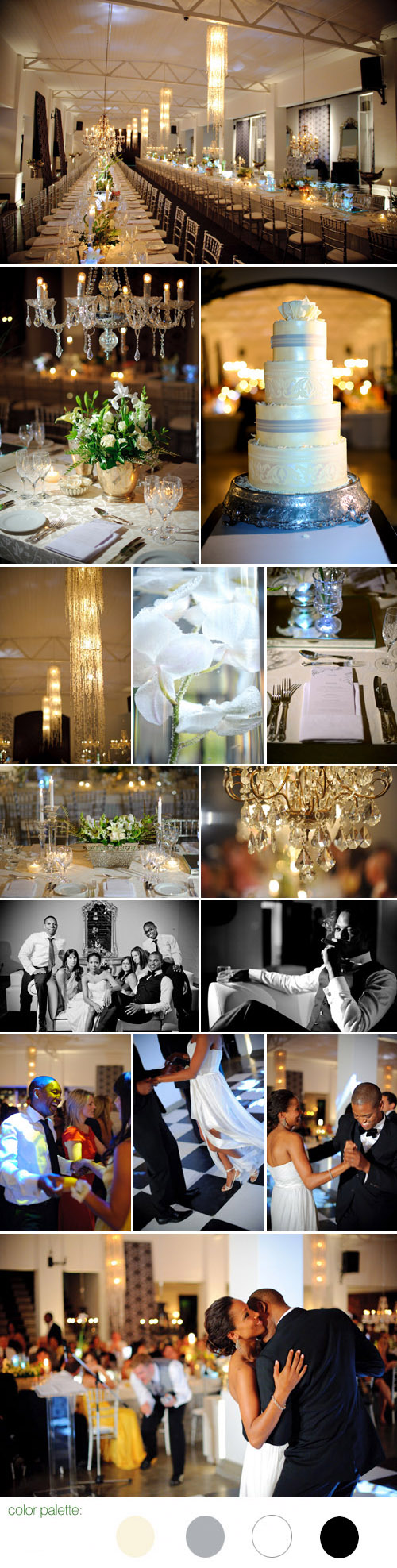 wedding reception in south africa, cream, grey-silver, off-white and black wedding color palette, images by jean pierre uys photography
