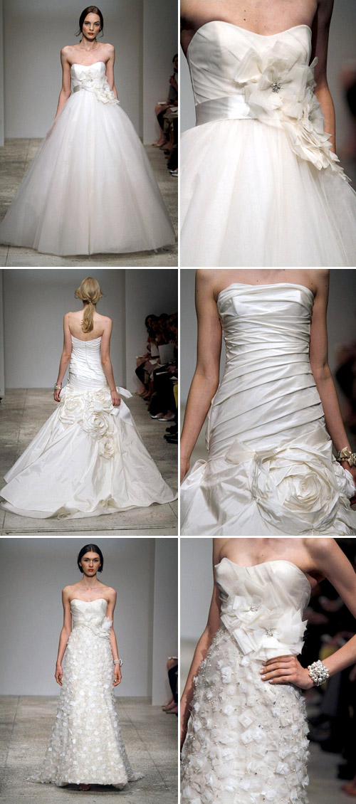 floral wedding dresses by amsale