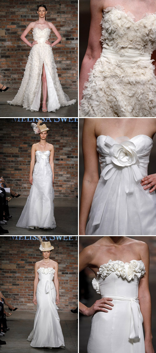 floral wedding dresses by melissa sweet