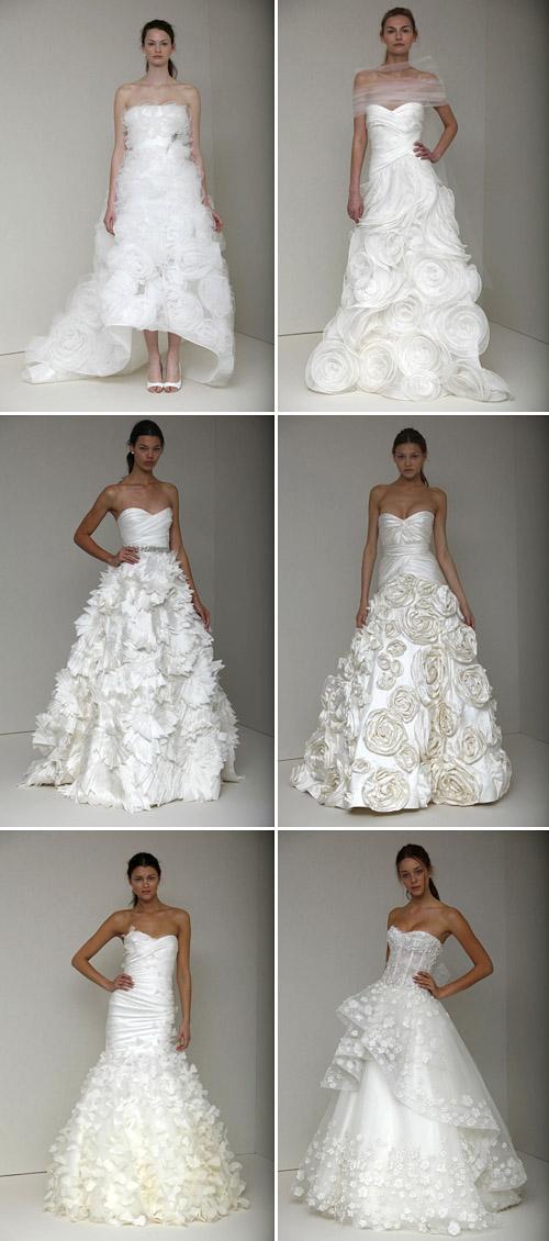 floral wedding dresses by monique lhuillier