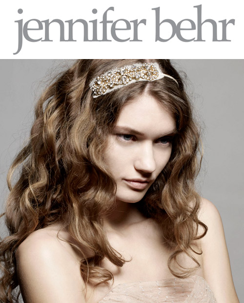 bridal hair veils, headbands and accessories by Jennifer Behr, www.jenniferbehr.com