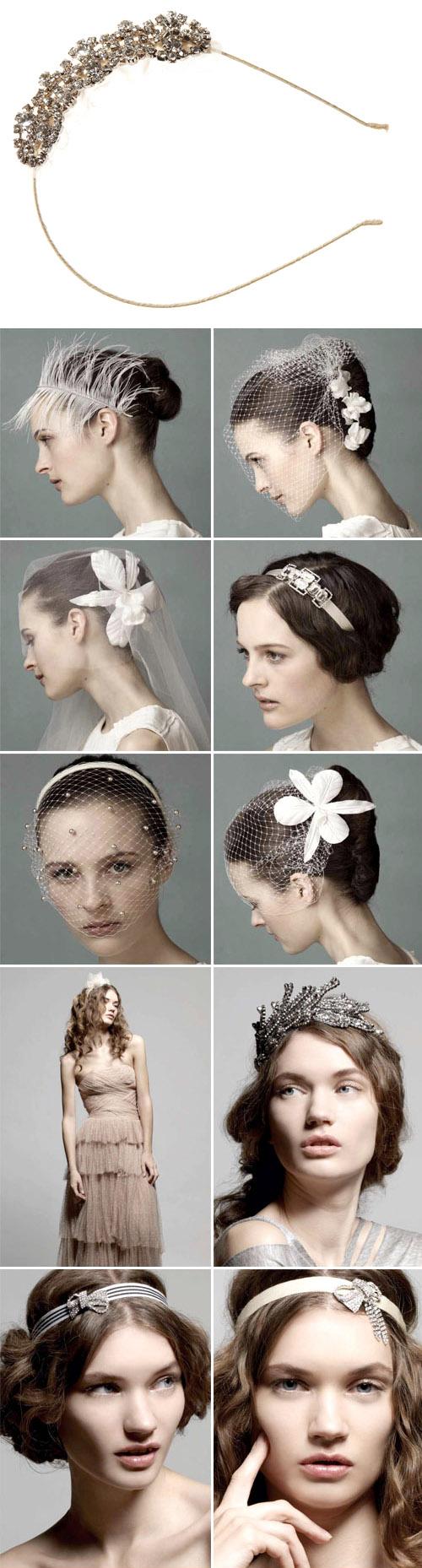 bridal hair veils, headbands and accessories by Jennifer Behr, www.jenniferbehr.com