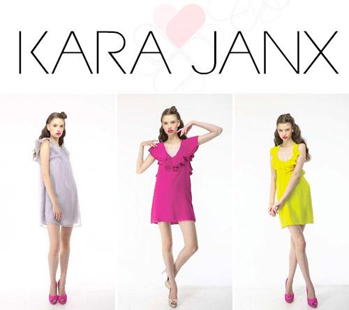 colorful modern bridesmaids dresses from kara janx, project runway season 2 finalist