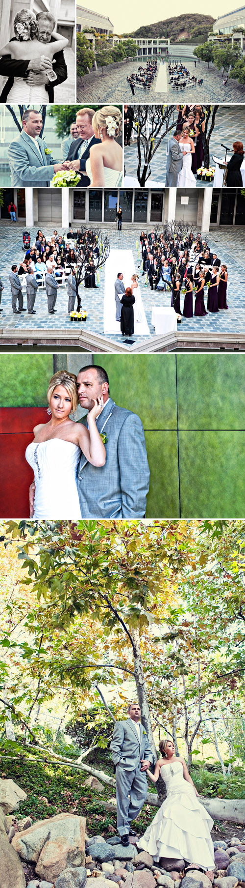fall southern california outdoor real wedding ceremony, images by Joy Marie Photography