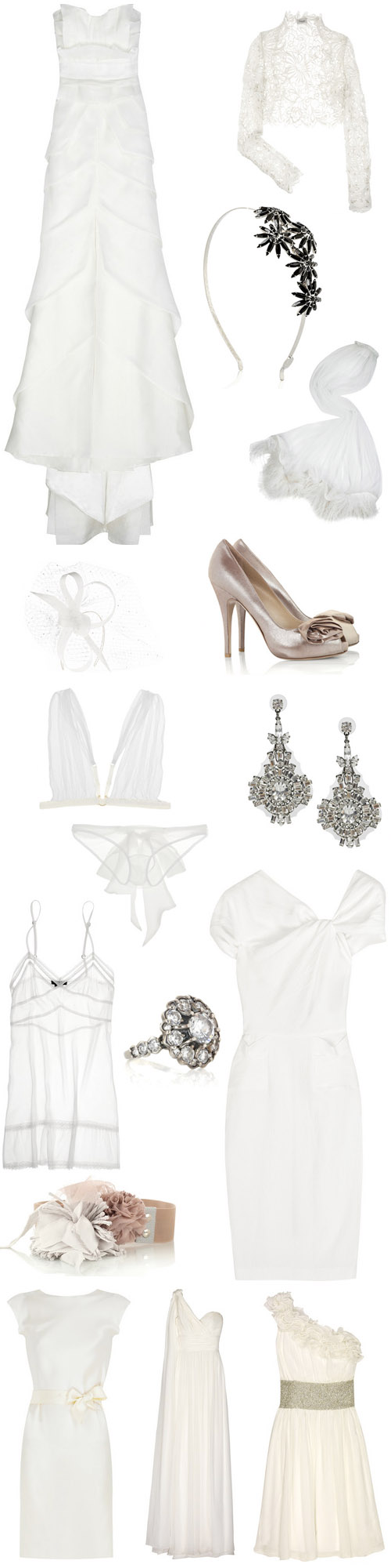 designer wedding fashion shopping online at Net-A-Porter.com, Marchesa, Lanvin, Temperly London, Christian Louboutin