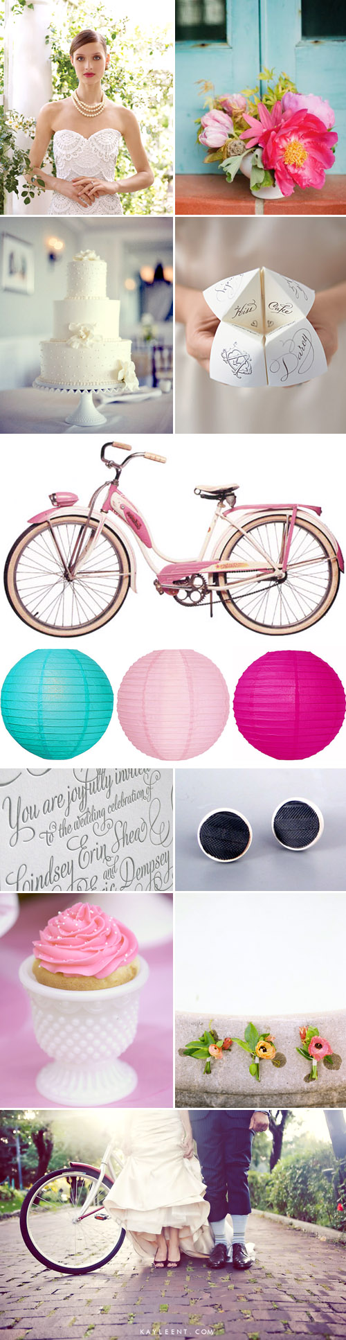 Romantic Bicycle Inspired Wedding Inspiration Board | Junebug Weddings