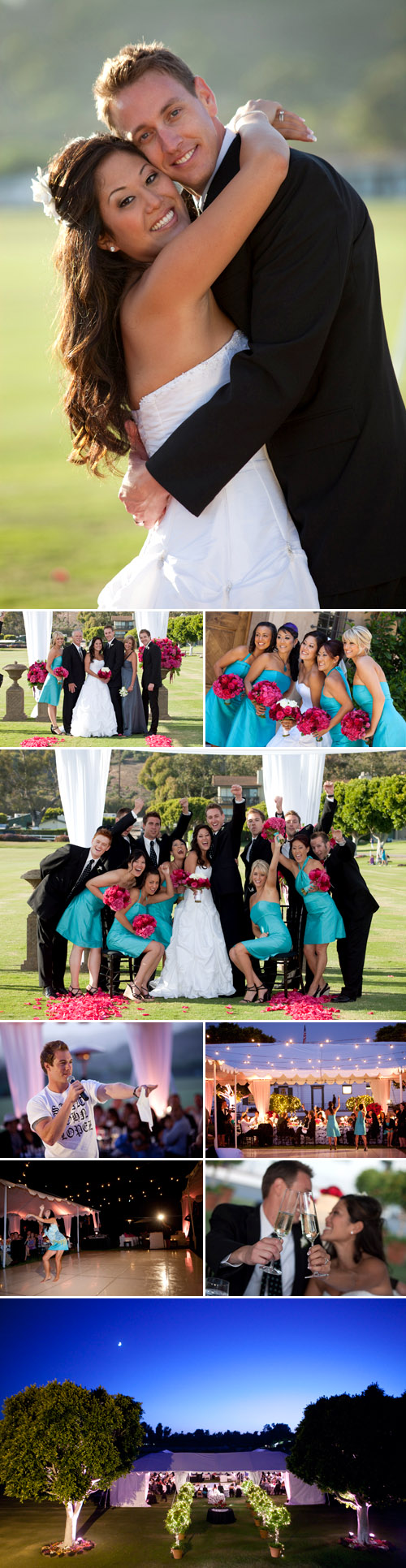 Fuchsia, Turquoise, Black and White Summer Wedding at the Santa ...
