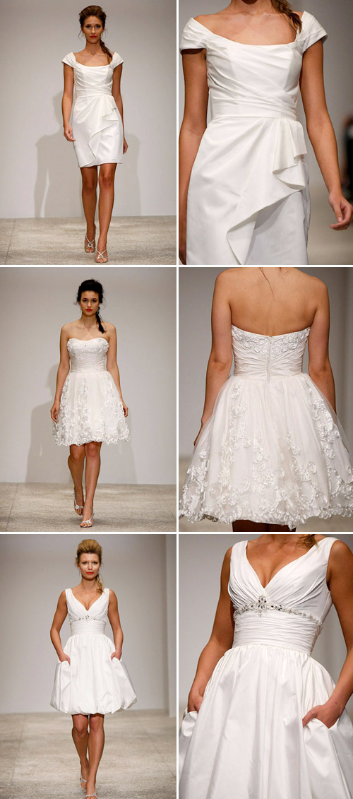 short wedding dress from Alfred Angelo, spring 2011 runway