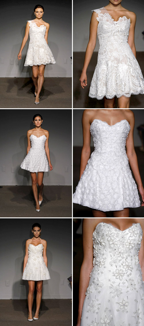 short wedding dress from Ulla Maija, spring 2011 runway