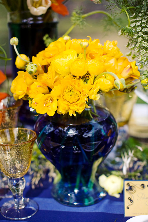 van gogh's starry night wedding table top decor inspiration, image by meg perotti
