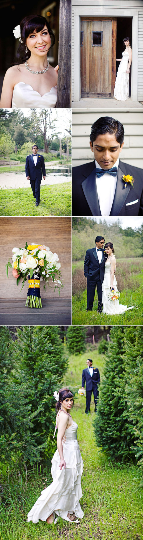 van gogh's starry night wedding fashion and design inspiration, images by meg perotti