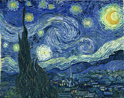 van gogh's the starry night, image via Wikipedia.org