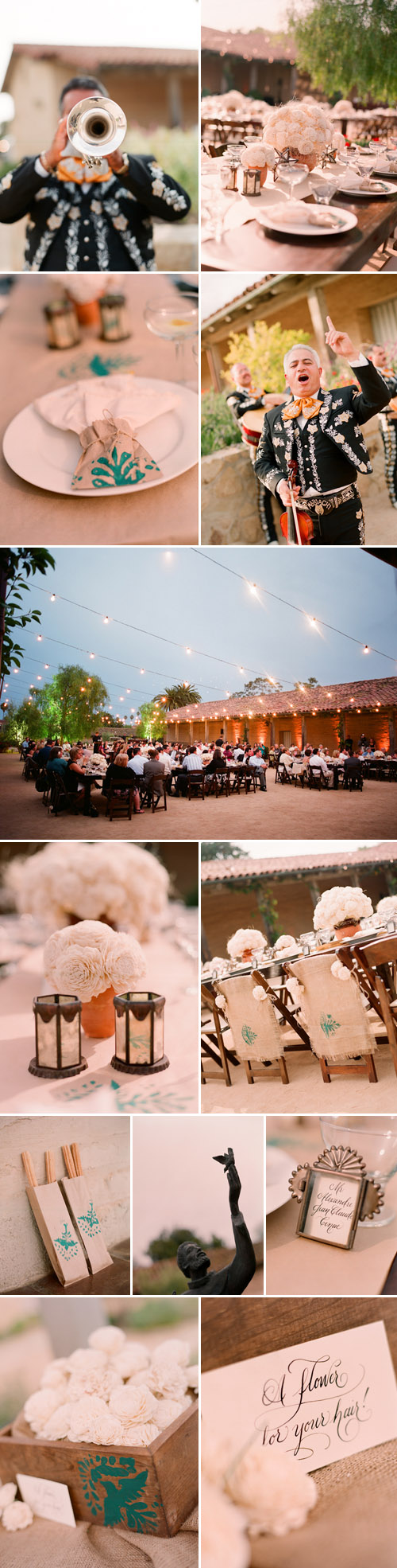 stylish mexican inspired real wedding rehearsal dinner, images by Beaux Arts Photographie