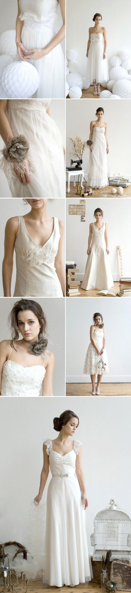 the spring 2010 bridal collection from The Engligh Department, images by Lisa Warninger