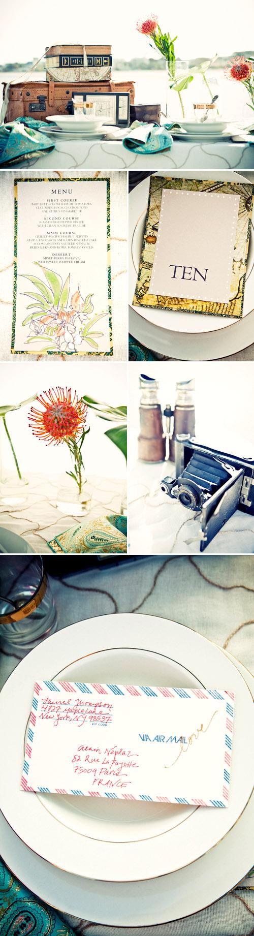 World Traveler Wedding Tabletop Decor | Junebug Weddings