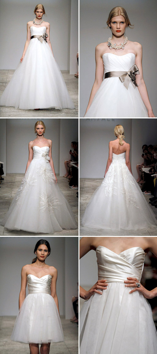 tulle accented wedding gown by amsale