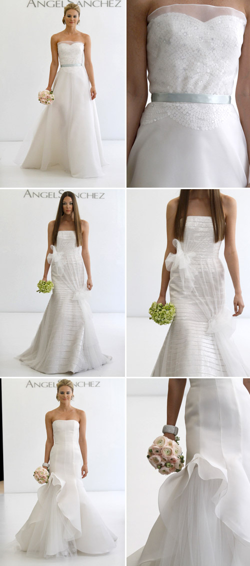 tulle accented wedding gown by angel sanchez