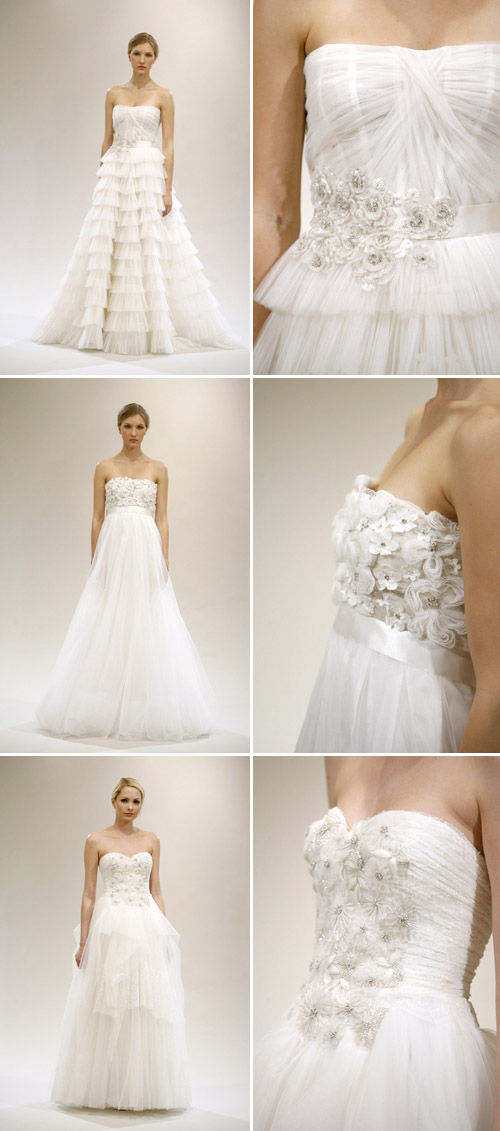 tulle accented wedding gown by reem acra