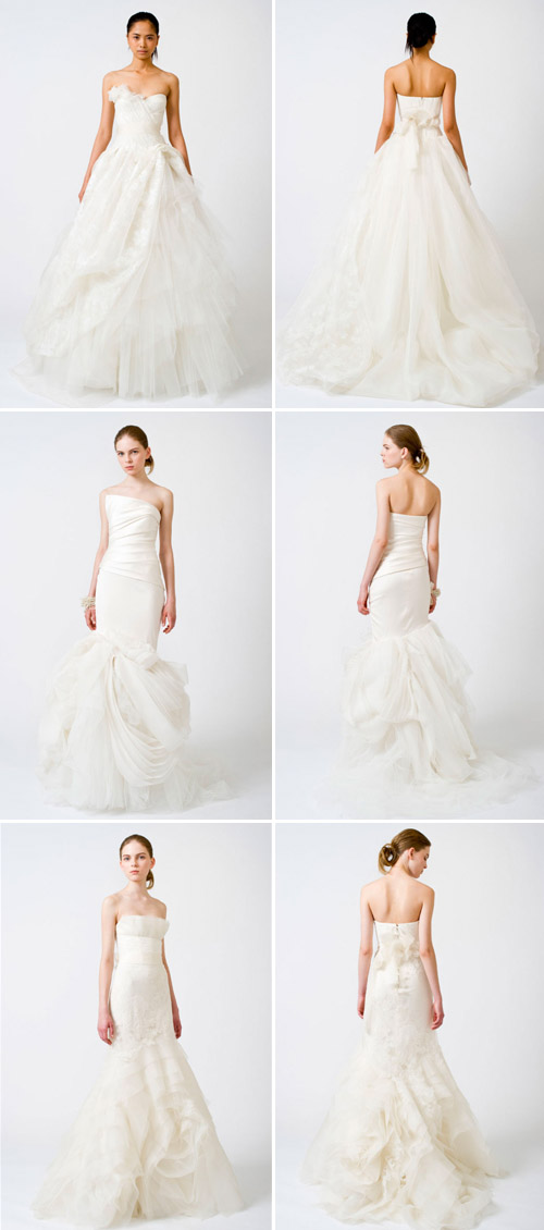 tulle accented wedding gown by vera wang