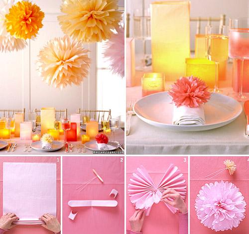 pom pom wedding decor ideas and resources junebug weddings. Black Bedroom Furniture Sets. Home Design Ideas