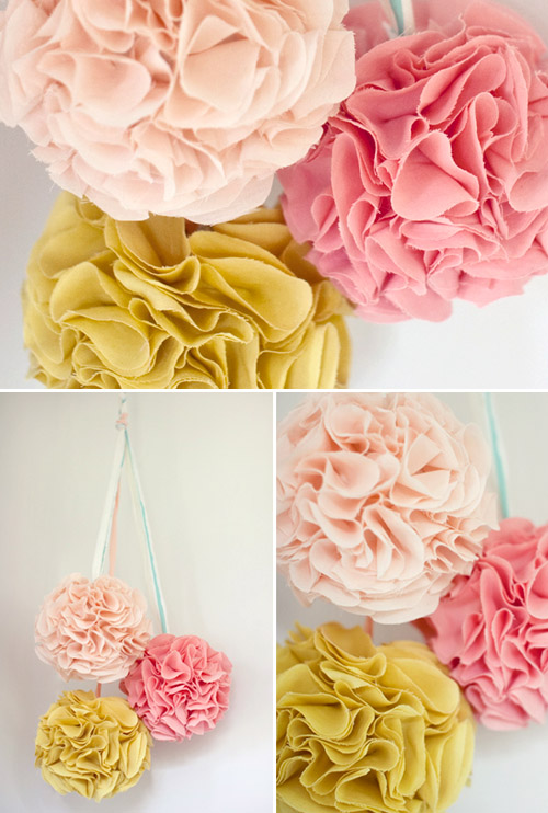 Pom pom wedding decor ideas and resources junebug weddings diy wedding pom pom decor ideas from oncewed solutioingenieria Image collections