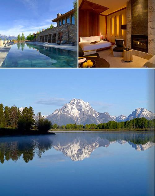 Honeymoon in grand teton and jackson hole wyoming for Luxury hotel jackson hole